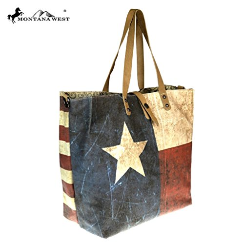 American Pride Patriotic Collection Dual Flag Tote