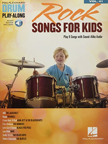 Rock Songs for Kids: Drum Play-Along Volume 41 (Hal Leonard Drum Play-along)