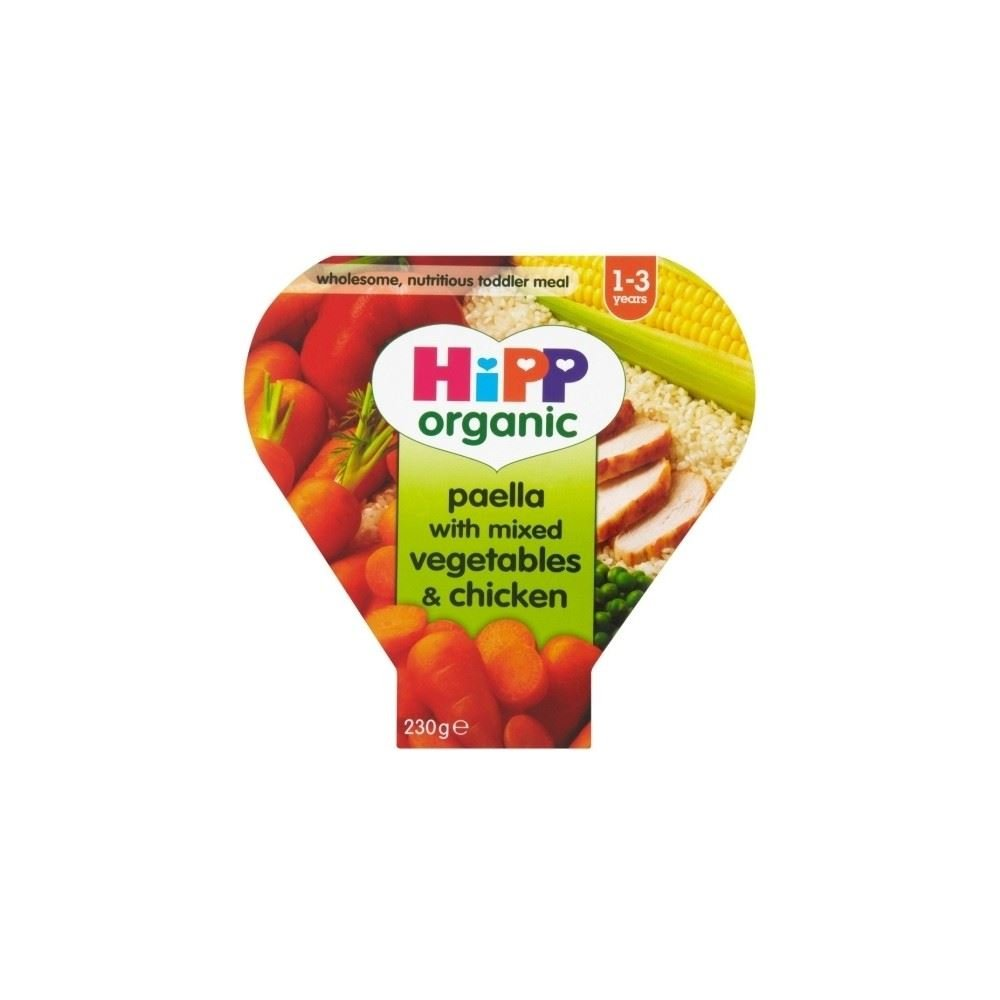 Hipp Organic Paella with Mixed Vegetable & Chicken 1-3yrs (230g) Grocery
