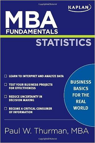 Book MBA Fundamentals in Statistics (Kaplan MBA Fundamentals)