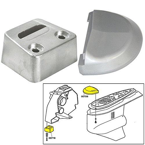 Tecnoseal Anode Kit w/Hardware - Volvo SX - Aluminum (Aluminum Volvo Penta Anode)