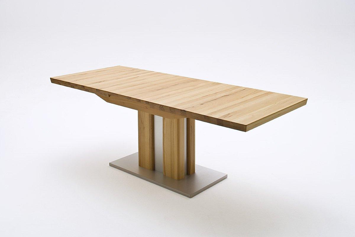 Esstisch massiv ausziehbar  Robas Lund Tisch Säulentisch Bergamo ausziehbar Kernbuche masiv ...