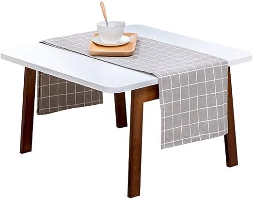 Mesa cuadrada plegable, escritorio de computadora plegable pequeño ...