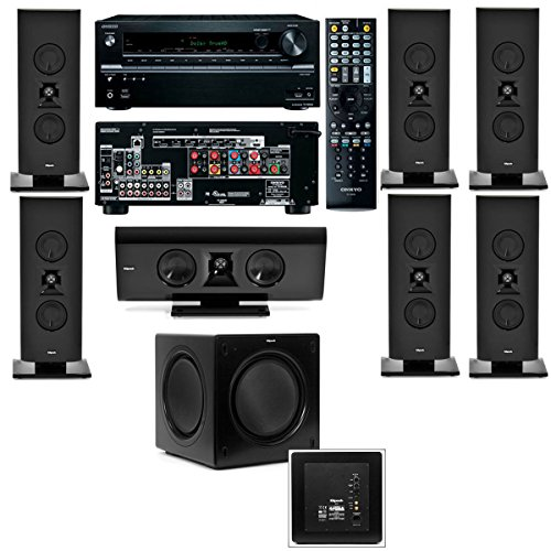 Best price for Klipsch Gallery G-16 7.1 Home Theater System-SW-115-Onkyo TX-NR636 7.2