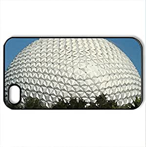 Amusement Parks at Epcot centre Florida - USA - Case Cover for iPhone 4 and 4s (Amusement Parks Series, Watercolor style, Black)