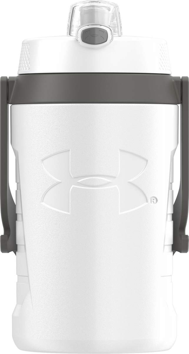 Under Armour Sideline 64 Ounce Water Jug, White by Under Armour