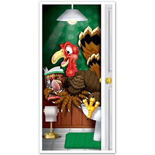 Amazon.com Beistle 1-Pack Decorative Turkey Restroom Door Cover 30-Inch by 5-Feet Kitchen u0026 Dining  sc 1 st  Amazon.com & Amazon.com: Beistle 1-Pack Decorative Turkey Restroom Door Cover ... pezcame.com