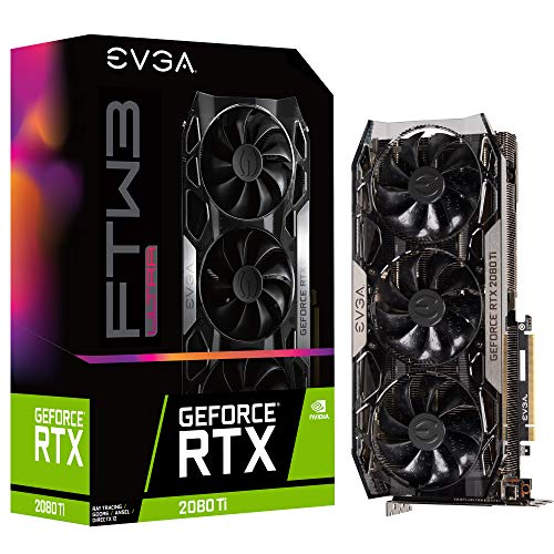 EVGA GeForce RTX 2080 Ti FTW3 Ultra Gaming, 11GB GDDR6, iCX2 & RGB LED Graphics Card 11G-P4-2487-KR