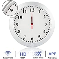 Camakt HD 1080P WiFi Camera Wall Clock Nanny Cam Wireless P2P IP Home Security Camera with Motion Detection