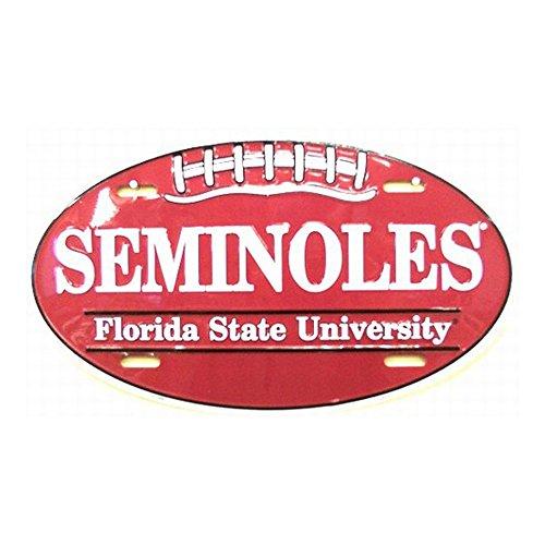 Florida State University Seminole Embossed Novelty Vanity Metal Oval License Plate Tag Sign OV70003