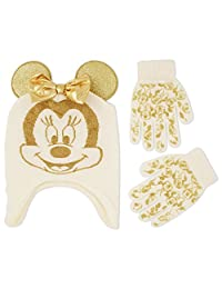 Disney Little Girls Minnie Mouse Character Hat and Glove Cold Weather Set, Age 4-7