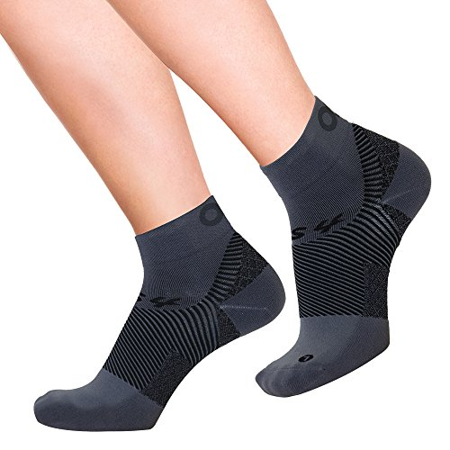OrthoSleeve FS4 Orthotic Socks (Pair) for Plantar Fasciitis Relief, arch support and foot health featuring patented FS6 technology (Medium, Grey)