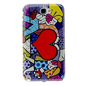 DUR Heart Pattern Hard Case for Samsung Galaxy Note 2 N7100