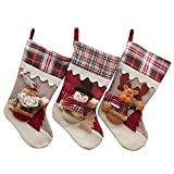 Christmas Stockings, FREESOO Christmas Decorations Gift Bag Candy Pouch Bag Santa Claus Snowman Reindeer
