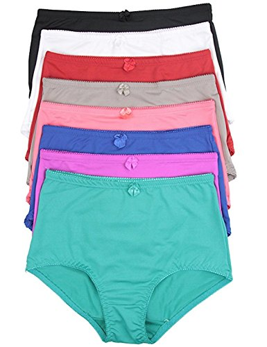 ToBeInStyle Women's Pack of 6 High-Rise Girdle Panties 4X-Large Various