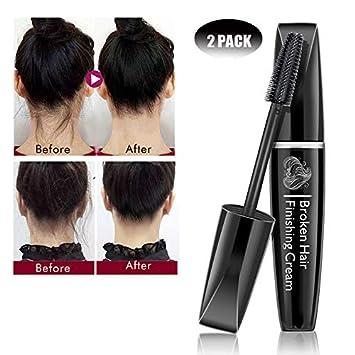 2 Pack Hair Finishing Stick For Bun Style Gel Small Broken Hair Finishing Cream Refreshing None Greasy