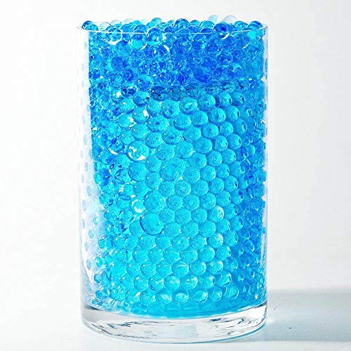 (Boon Earthie 10 Blue Bags Round Crystal Soil Jelly Plant Flower Daisy Rose Water Feed Beads Decor vase Pot Bowl Garden Office Desk Dining Table Kitchen spa Bathroom Restroom bar Restaurant Club 30 g)