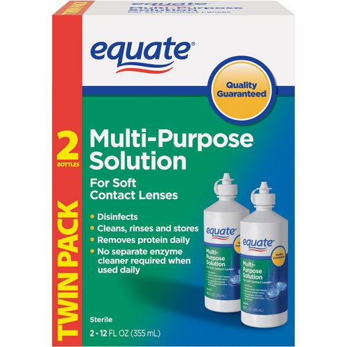 - Equate Multi-Purpose Solution Twin Pack 2-12 oz (355 ml)