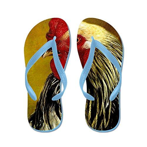 CafePress Rooster - Flip Flops, Funny Thong Sandals, Beach Sandals Caribbean Blue