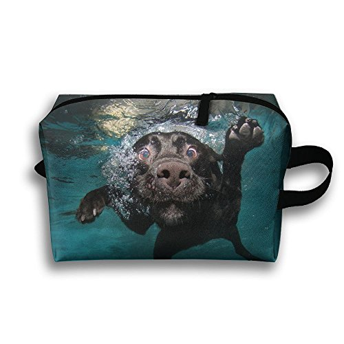 Unisex Underwater The Dogs Original Design Canvas Coin Purse Wallet Make Up Pen Pencil Holder Stationery Pouch Zipper Bag Hanging (Creative Halloween Makeup Ideas)
