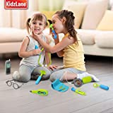 Durable Kids Doctor Kit with Electronic Stethoscope and 12 Medical Doctors Equipment, Packed in a Sturdy Gift Case
