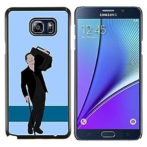 LECELL--Funda protectora / Cubierta / Piel For Samsung Galaxy Note 5 5th N9200 -- Hipster Amigo --