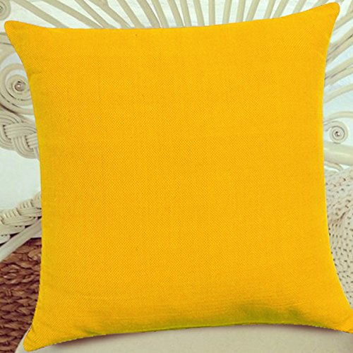 FabHomeDecor Designer Supersoft Microfibre Cushion – 16″x16, Yellow