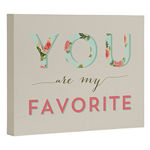Deny Designs Allyson Johnson Floral You Are My Favorite Art Canvas, 8