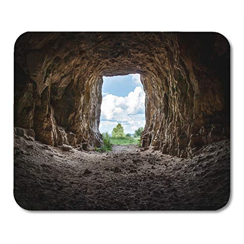 Semtomn Mouse Pad Rock Entrance to Abandoned Karst Cave Closeup Discovery Hole Mousepad 9.8