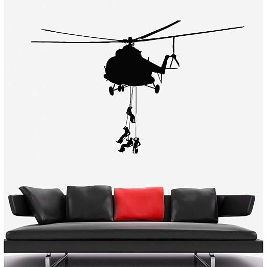 GUDOJK Tatuajes de Pared Helicóptero Militar Soldados del ejército ...