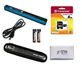 VuPoint ST415 Magic Wand Portable Scanner, Protective Case, 8GB SD Card, OCR Software, JPG/PDF, 900DPI, Color/Mono, for Document/Photo (Turquoise)