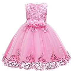 Sequins Flower Lace Princess Dress