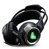 HaloVa Gaming Headset, Noise Cancelling Over-Ear Headphone, Professional Computer Game Headset for PC, PUBG, Black