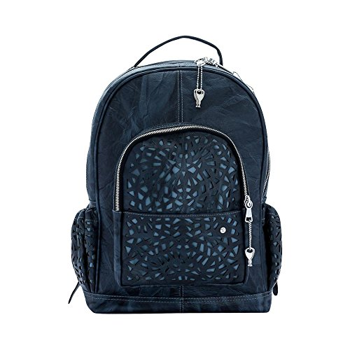 Women's Dark Leather Handmade Alex Colombian Gray Genuine 100 Backpack from Blue Honey Gaspy Percent U5xvx