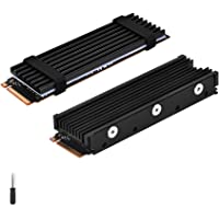 ELUTENG M.2 2280 Heatsink Double-Sided Heat Sink Alloy Aluminum NGFF NVME Cooling Sink with 4 Thermal Conductivity…