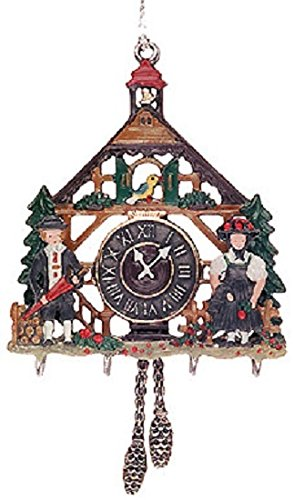 Pewter Christmas Decorations - Pinnacle Peak Trading Company 3D Cuckoo Clock German Pewter Christmas Ornament Decoration Made in Germany