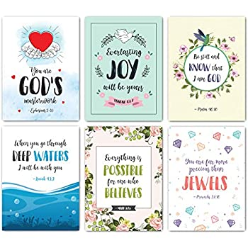 Amazon 48 Pack Inspirational Bible Verse Quote Greeting Cards