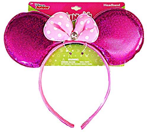 Disney Junior Minnie Mouse Sparkling Ear shaped Headband (Pink) (Disney Minnie Ears Headband)