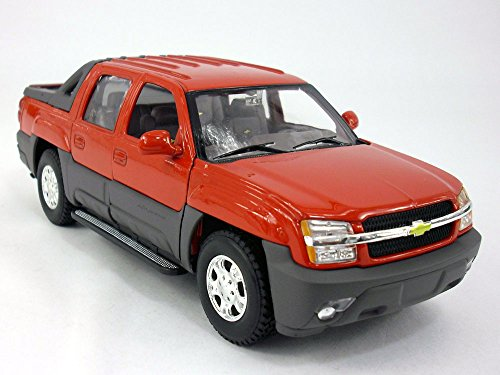 Chevy Avalanche 2002 1/24 Scale Diecast Metal Model - RED