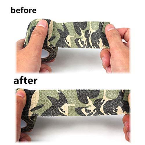 Tornado Camouflage Tape Self-Adhesive Camo Wrap Tape Cling Scope Wrap Military Camo Multifunction for Gun Rifle Shotgun Camping Hunting by Tornado (Image #4)