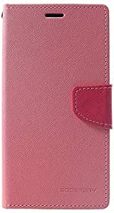 Mercury Goospery Case for iPhone XS Max Fancy Diary Leather Case with Wallet Stand - Pink