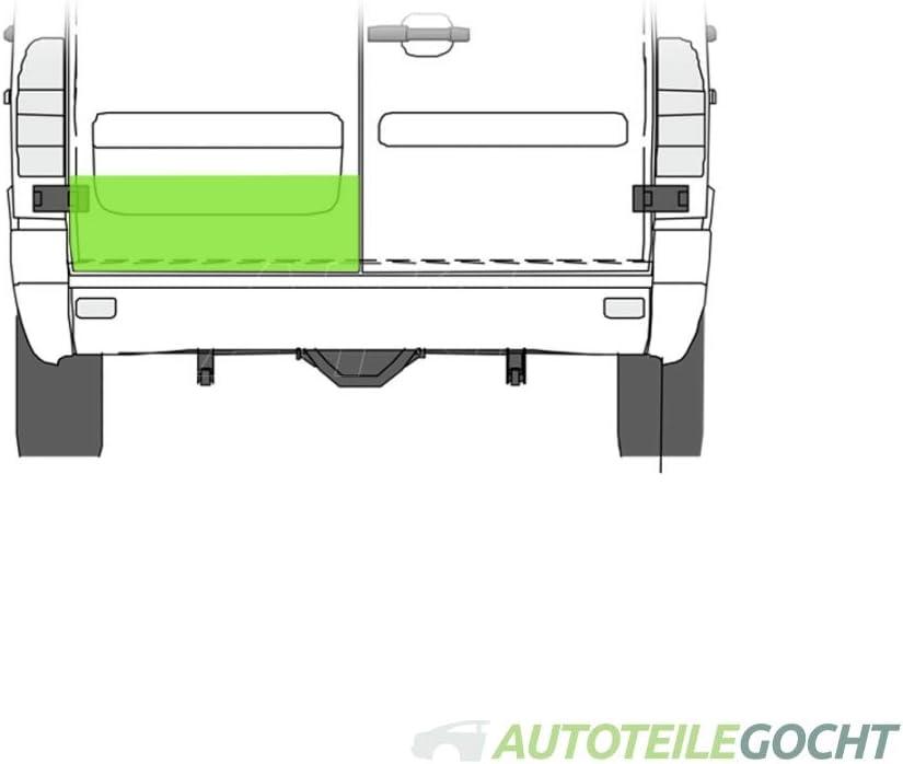 3-t Bus 3-t Kasten Set Reparaturblech Heckt/ür 200mm Hinten f/ür MERCEDES SPRINTER 2-t Bus 4-t Bus 2-t Kasten 4-t Kasten 95-06 von Autoteile Gocht