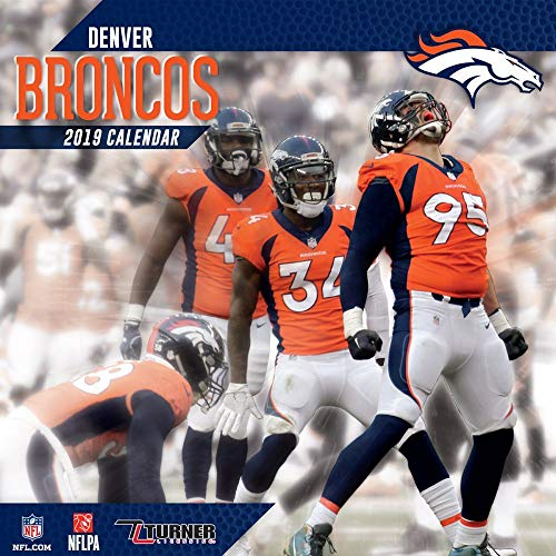 (2019 Denver Broncos Mini Wall Calendar, Denver Broncos by Turner Licensing)