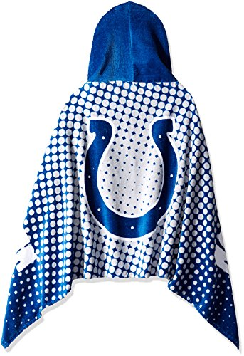 The Northwest Company Officially Licensed NFL Indianapolis Colts Youth Hooded Beach Towel, 22