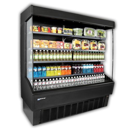 Master-Bilt, VOAM72-79, Vertical Open Air Merchandiser, Refrigeration, 43.4 Cubic Feet, Black
