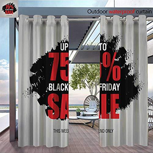Outdoor CurtainBlack-Friday-sale-inscription-best-design-template--Black-Friday-banner--poster--badge--sticker--web-advertising-vector-illustration117.jpg Room Darkening Waterproof Curtain for