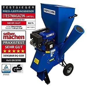 DENQBAR Gartenhäcksler / Gartenschredder mit 5,1 kW (7 PS) Benzinmotor
