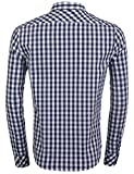 Edited Men's Classic Checked Casual Shirt Long Sleeve Plaid Dress Shirt
