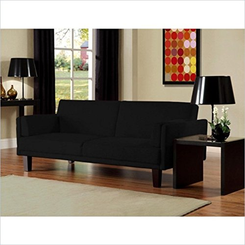 DHP Metro Futon Sofa bed in Black - Metro Modern Sofa