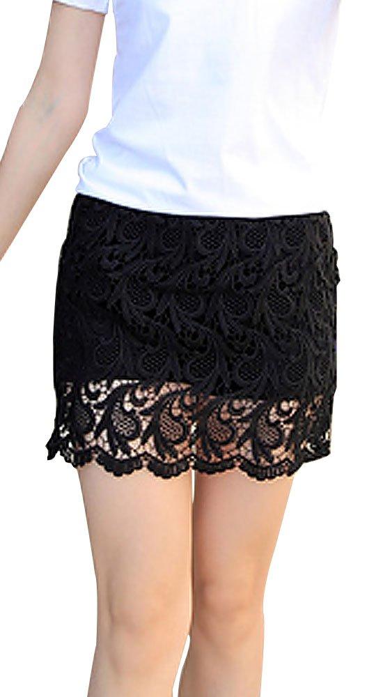 Kangqifen women's Summer Lace Elasticity Plus Size Skorts XX-Large by Kangqifen